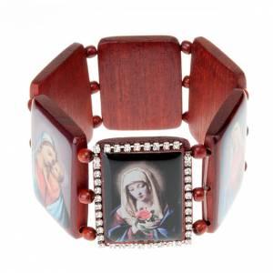 Bracelet-chapelet, images, paillettes s1