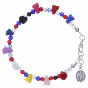Bracelet Medjugorje multicolore icône Vierge s2