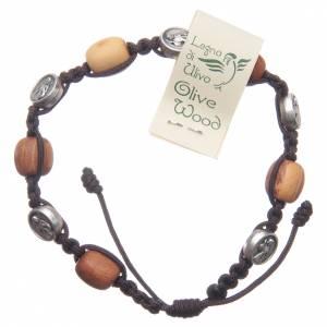 Bracelets, dizainiers: Bracelet Medjugorje olivier corde Vierge Miraculeuse