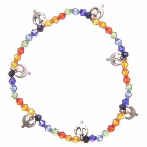 Bracelet paix perles arc-en-ciel s1