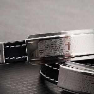 Bracelets divers: bracelet prière faux cuire, noir