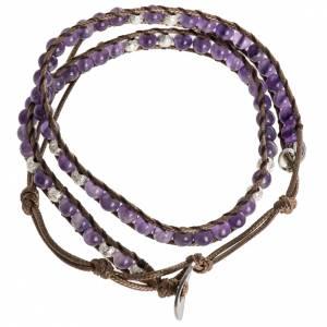 Bracelet religieux améthyste 4mm s7