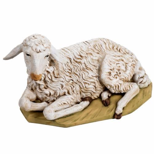 Brebis couchée crèche 125 cm résine Fontani s1