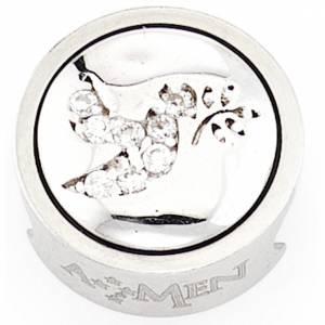 Breloque pour bracelet AMEN Colombe avec branche d'olivier s1