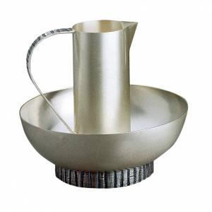 Brocche per manutergio: Brocca per manutergio Molina con bacile ottone argentato