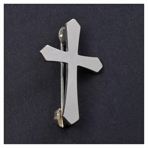 Broche Clergyman punta plata de ley s2