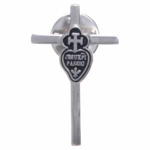 Croix de Clergyman: Broche croix emblème passioniste argent 800