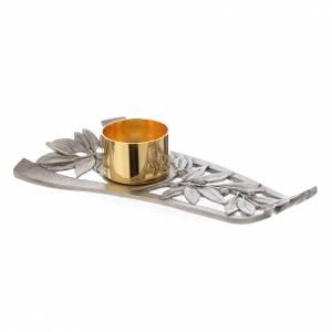 Candelieri metallo: Bugia in peltro argentata