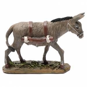 Animales para el pesebre: Burro de resina 12 cm belén Linea Martino Landi