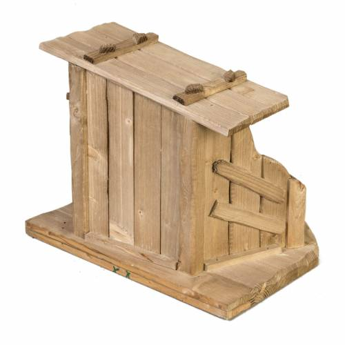 Cabaña de madera para pesebre 28x38x28cm s4