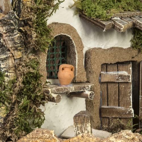 Cabaña tipo refugio con accesorios para pesebre 40x58x38c s9