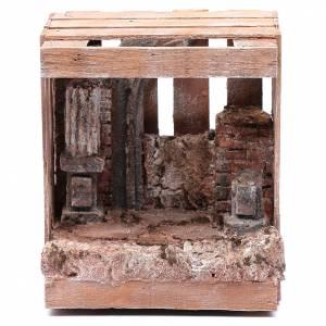 Maisons, milieux, ateliers, puits: Cabane pour crèche en bois 19,5x16,5x13,5 cm