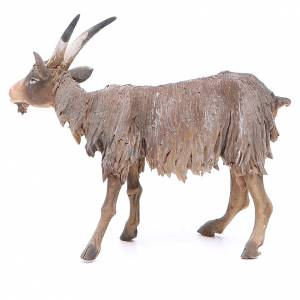 Cabra cabeza baja Belén 18 cm Angela Tripi terracota s2