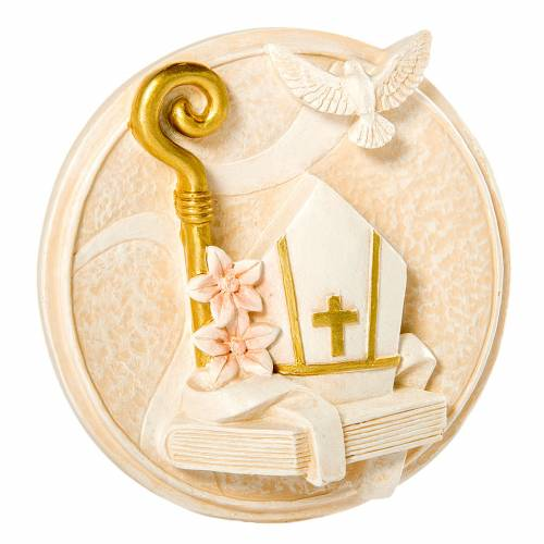 Cadre Rond Fille Confirmation 7 cm s1