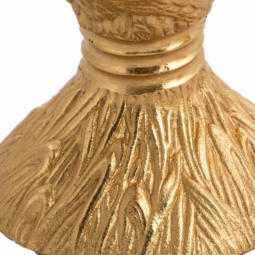 Calice ciboire patène épis laiton et bronze moulé s3