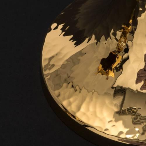 Calice e pisside ottone argento tazza liscia lucida s8