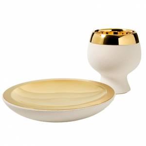 Calici Pissidi Patene ceramica: Calicino e patena argilla refrattaria