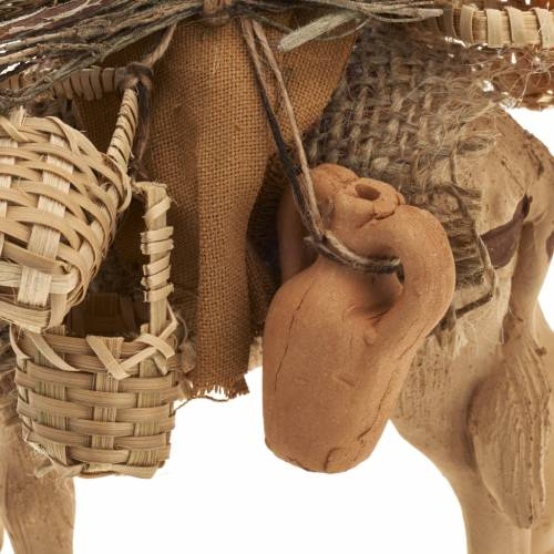 Camel with man, standing, Neapolitan nativity figurine 10cm s5