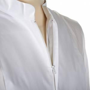 Camice bianco cotone decori bianchi s5