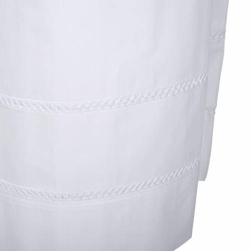 Camice bianco cotone decori bianchi s3