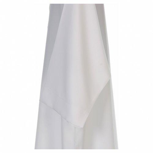Camice bianco svasato con collettino risvoltato 100% poliestere s4