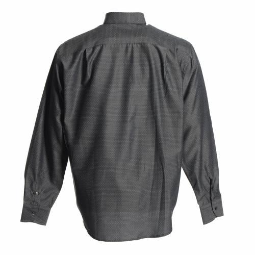 Camicia clergy cotone poliestere grigio s2