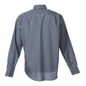Camicie Clergyman: Camicia clergy M. Lunga tinta unita Misto cotone Grigio scuro