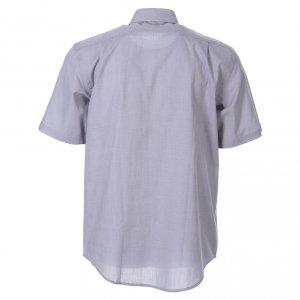 Camicie Clergyman: STOCK Camicia clergy manica corta filafil grigio chiaro
