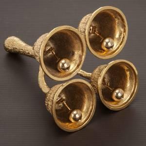 Campanello liturgico 4 suoni ottone dorato s4