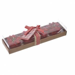 Candele stella di Natale rosse set 4 pz s2