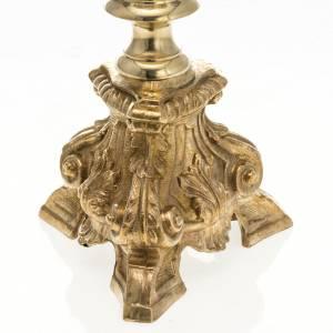 Candeliere barocco ottone 60 cm s2