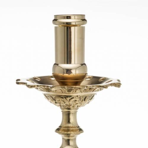 Candeliere barocco ottone 60 cm s4