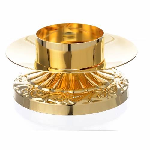 Candeliere impero in ottone dorato s1
