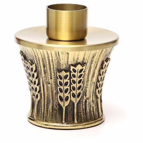 Candeliere Molina ottone dorato spighe s4