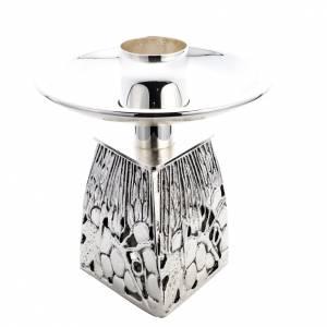 Candelieri metallo: Candeliere ottone argentato fuso