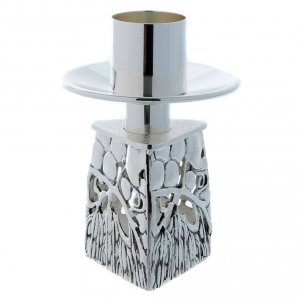 Candlestick, in silver plated cast brass s5