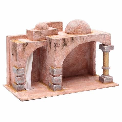 Capanna di stile arabo con porticato 20x35x20 cm s3