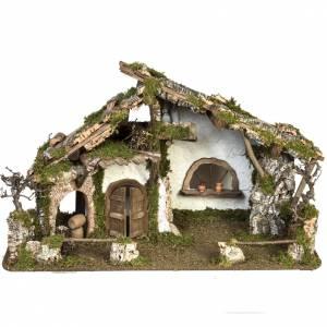 Capanne Presepe e Grotte: Capanna per presepe in stile baita 50x78x38 cm