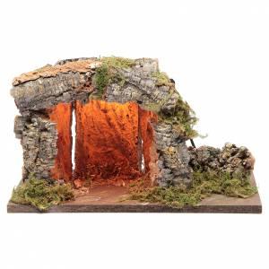 Capanne Presepe e Grotte: Capanna presepe 18x33x23 con punto luce