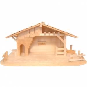 Capanne Presepe e Grotte: Capanna stile baita presepe Valgardena legno naturale