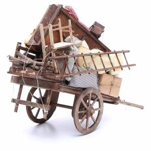 Cart of the evicted for Neapolitan Nativity, 24cm s3