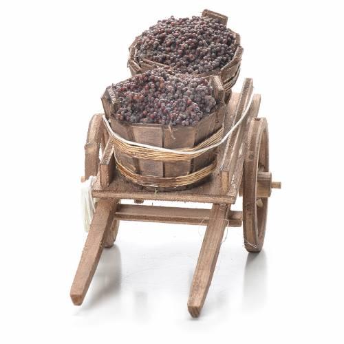 Cart with tubs, Neapolitan Nativity 10x18x8cm s4