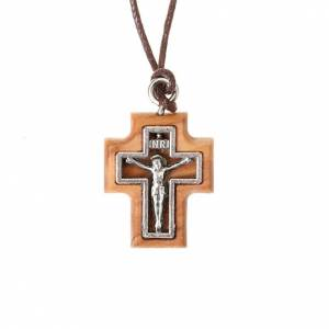 Wooden cross pendants: Carved cross pendant