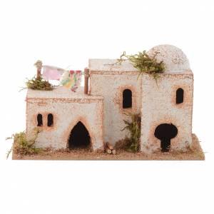 Ambientazioni, botteghe, case, pozzi: Casa araba sughero 15x7xh.8 cm