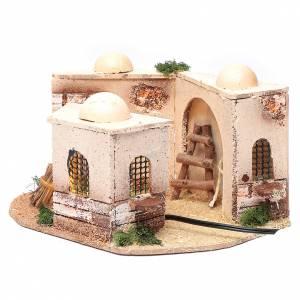 Casas, ambientaciones y tiendas: Casa árabe belén iluminada de corcho 15x25x10 cm