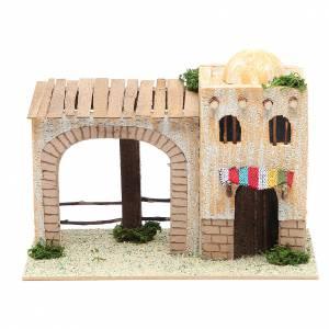 Casas, ambientaciones y tiendas: Casa árabe con pórtico 22x13x14 cm