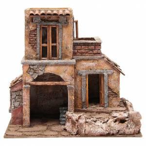 Casa con capanna presepe 35x38x25 cm s1