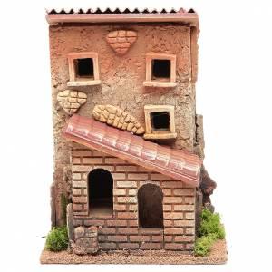 Casa con scala presepe 25x18x14 cm per 6 cm s1