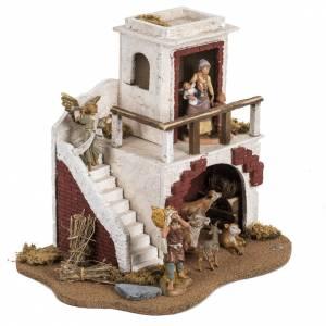 Casa con stalla Fontanini per villaggio cm 12 s2