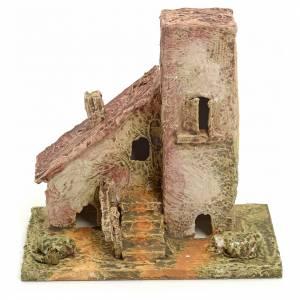 Ambientazioni, botteghe, case, pozzi: Casetta presepe in legno stuccato